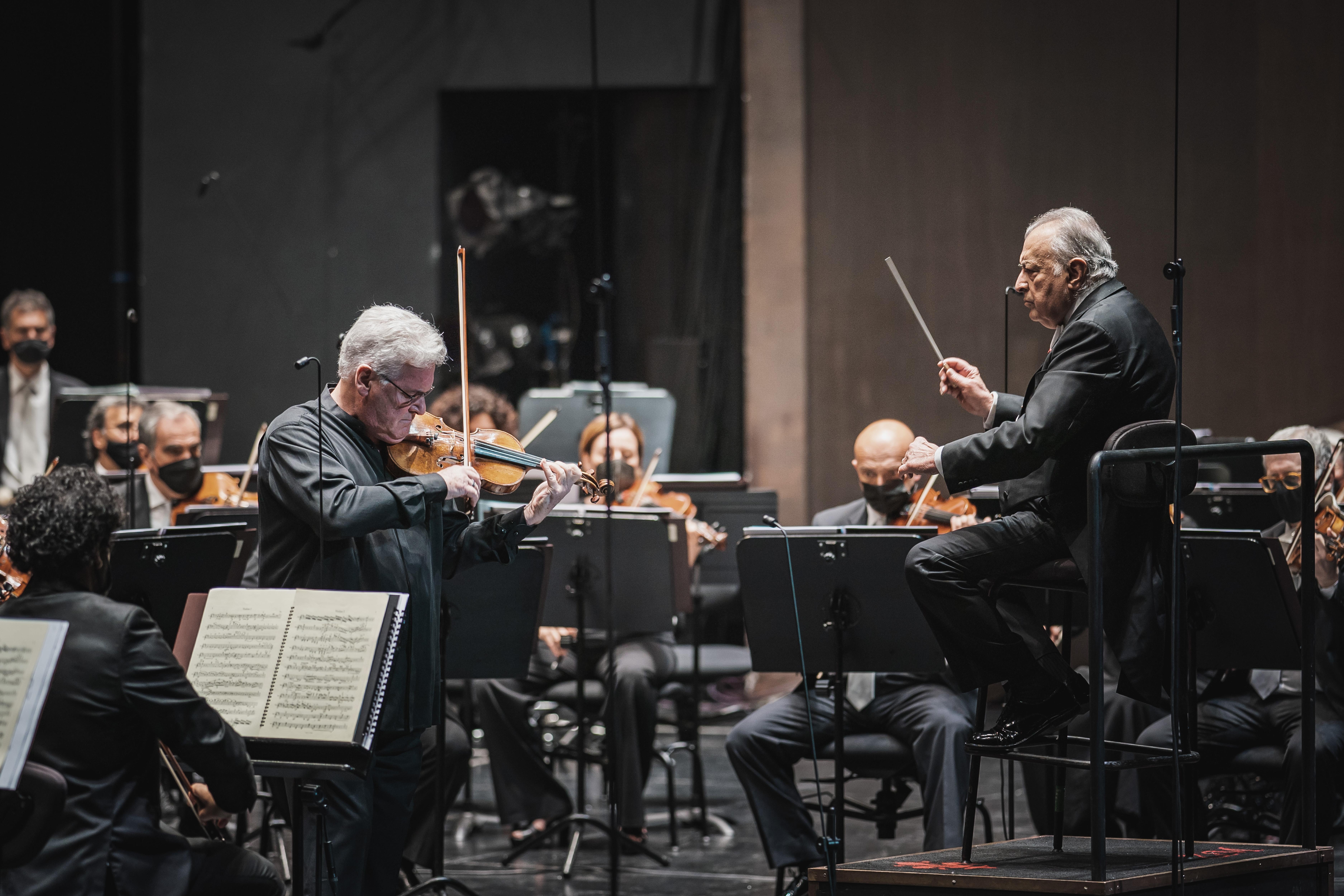 Zubin Mehta e Pinchas Zukerman (foto Michele Monasta)