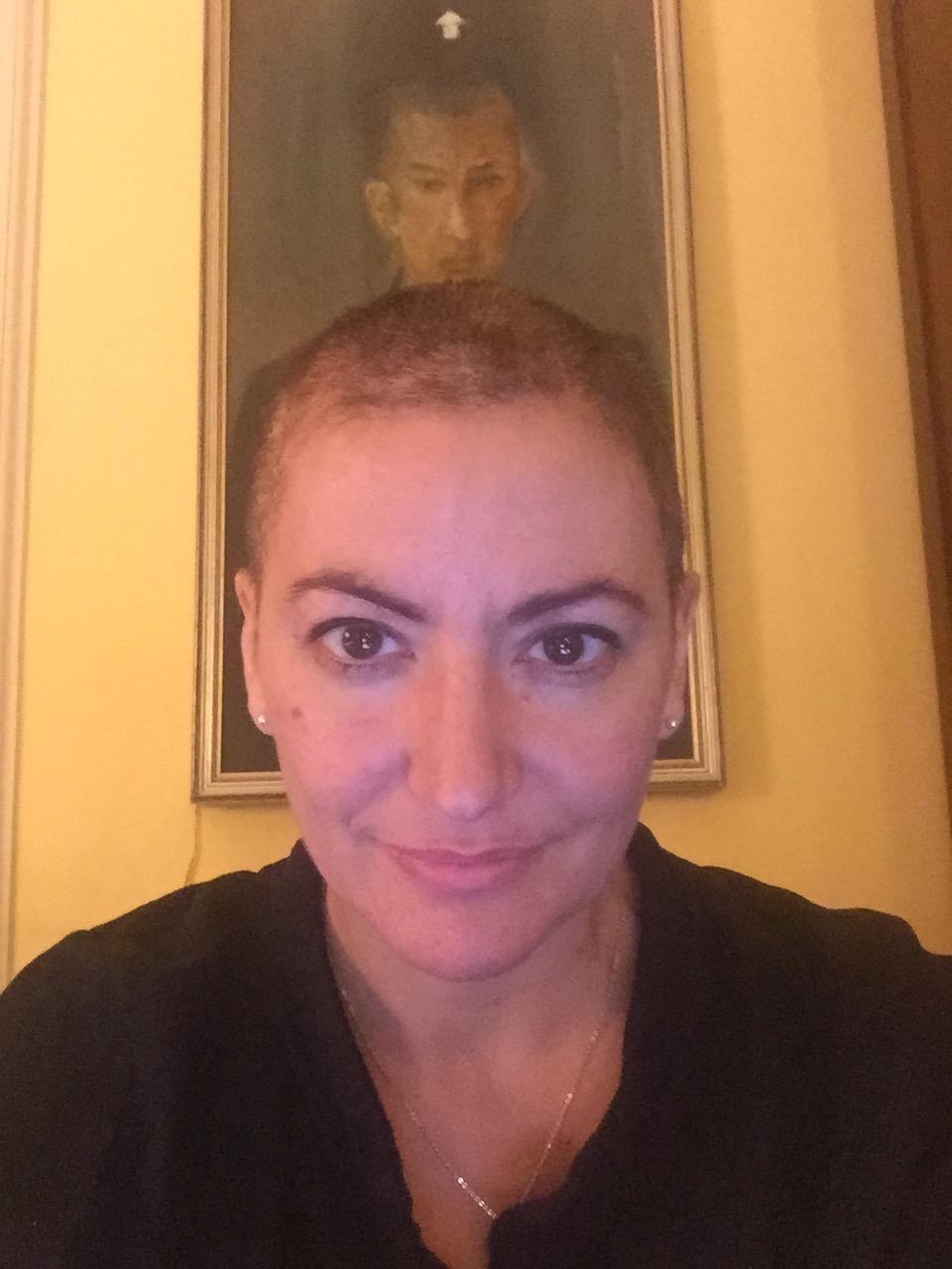 Laura Brioli durante la malattia