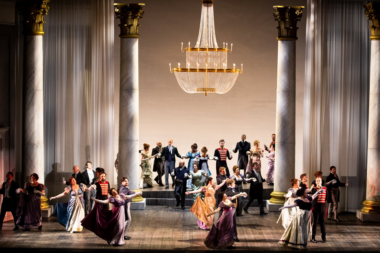 Seattle Opera Chorus and Cast. Philip Newton photo.