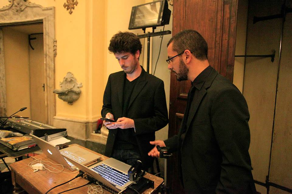 Girolamo Deraco con Alberto Gatti (sound designer)
