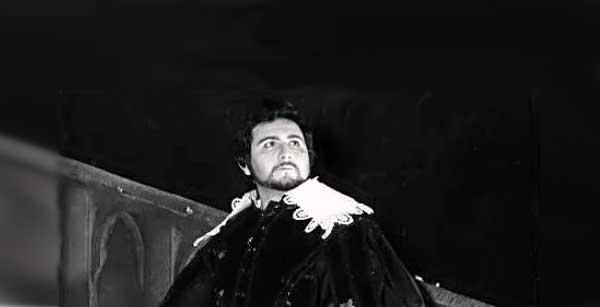 Umberto Grilli nel ruolo di Edgardo della Lucia di Lammermoor