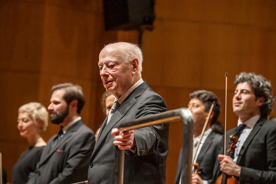 Bernard Haitink (foto dal sito fb dell'Orchestra Mozart)
