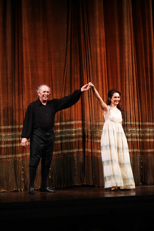 Gilda (Maria Mudryak) Rigoletto (Leo Nucci) - foto Cravedi