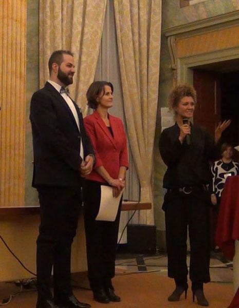 Raffaele Tassone con Rachel O'Brien e Stefania Gamba - foto di OperaClick